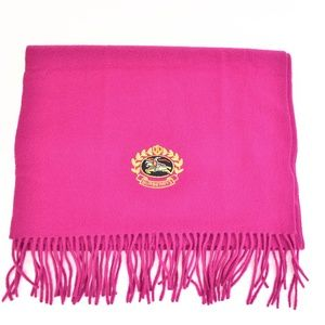 BURBERRY Vibrant Pink Wool Prorsum Knight Scarf qt